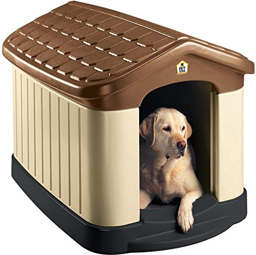 Pet Zone Tuff-N-Rugged Weather-Resistant Dog House. (Durable, Double Walled Plastic Dog House)...