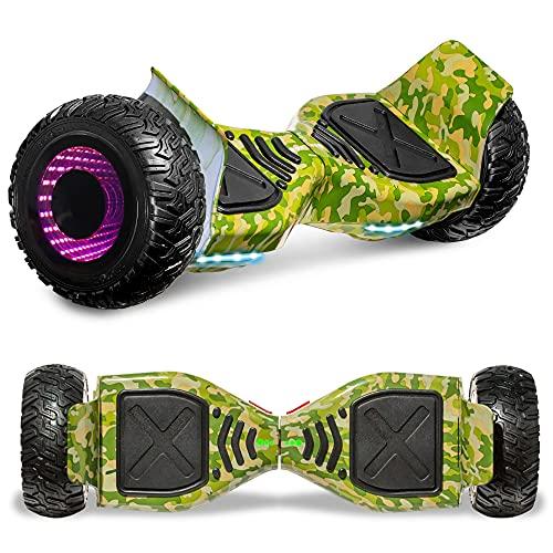 All Terrain Hoverboard Off-Road Racing Tyre Hover board Smart Self-Balancing Dual Motors Electric...