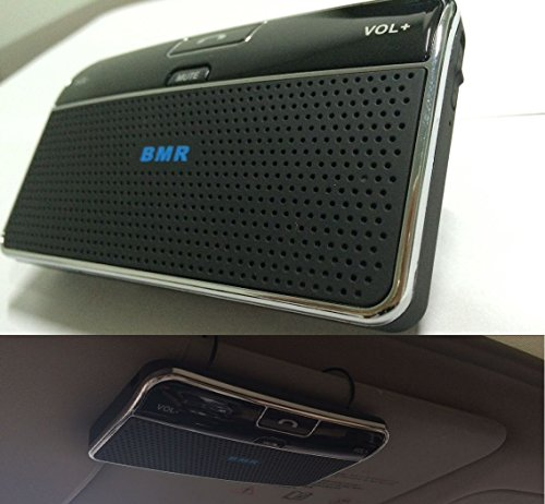 BMR Bluetooth Visor car Bluetooth Handsfree Two-Speaker Speakerphone Car kit for iPhone, Samsung,...