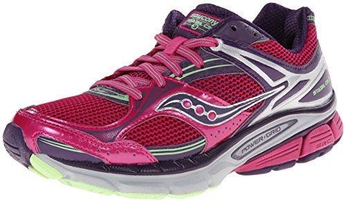 Saucony Women's Stabil CS3 Running Shoe,White/Blue/Navy,9 M US