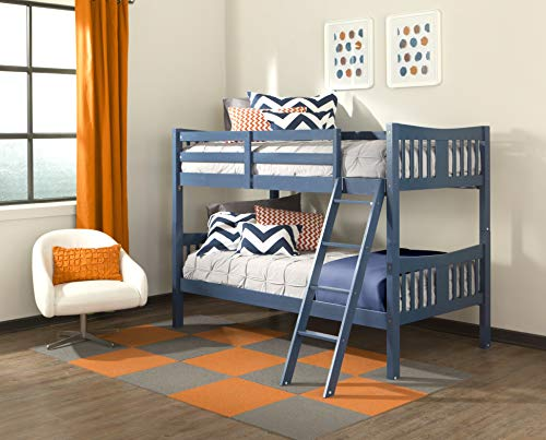 Storkcraft Caribou Solid Hardwood Twin Bunk Bed, Espresso Twin Bunk Beds for Kids with Ladder and...
