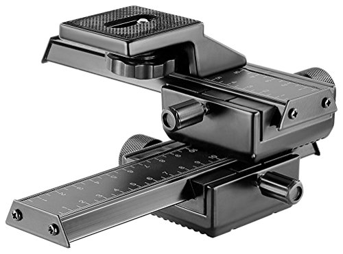 Neewer Pro 4-Way Macro Focusing Focus Rail Slider/Close-Up Shooting for Canon Nikon, Pentax,...