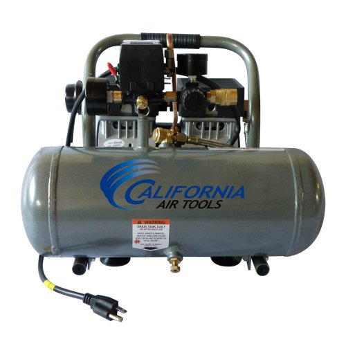 California Air Tools CAT-1610A Ultra Quiet and Oil-Free 1.0 Hp 1.6-Gallon Aluminum Tank Air...