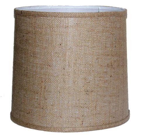 A Ray Of Light 121312BUR 12-Inch by 13-Inch by 12-Inch Brown Burlap Drum Shade