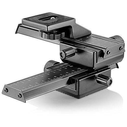 Neewer Pro 4-Way Macro Focusing Focus Rail Slider/Close-Up Shooting for Canon Nikon, Pentax,...