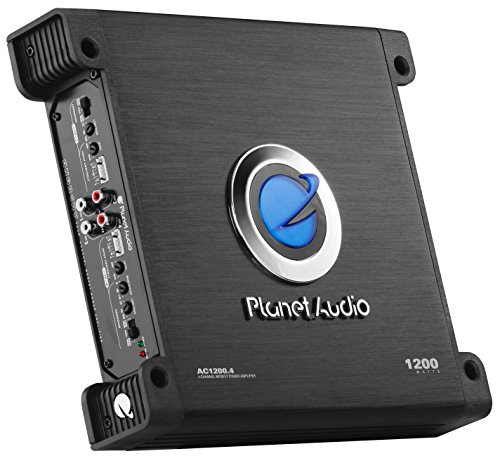 Planet Audio AC1200.4 4 Channel Car Amplifier - 1200 Watts, Full Range, Class A/B, 2-4 Ohm Stable,...