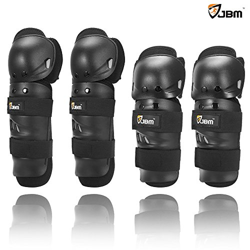 JBM Powersports Knee and Elbow Shin Guards Gear for Motorcycle, Motobike, Dirtbike, Motocross,...