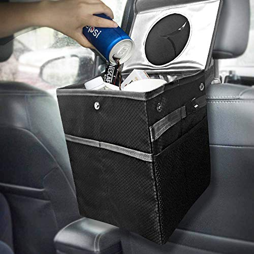 Best Car Trash Can for Litter with 30 Free Liners, Leakproof, Odor Proof, Insulated for Car Cooler,...
