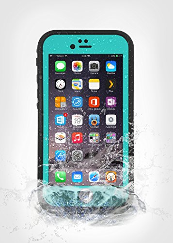 AMBM Newest Waterproof Case for iPhone 6 Plus iPhone 6S Plus Shockproof DirtProof Snowproof [Teal]
