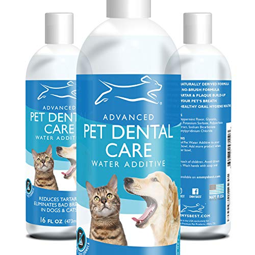 Emmy's Best Premium Dog and Cat Breath Freshener Advanced Pet Dental Care Water Additive - No...