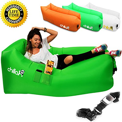 Chillax Inflatable Lounger - Best Air Lounger for Travelling, Camping, Hiking - Ideal Inflatable...