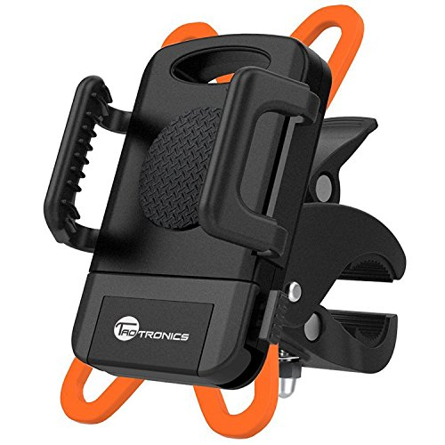 TaoTronics Bike Phone Mount Bicycle Holder, Universal Cradle Clamp for iOS Android Smartphone,...