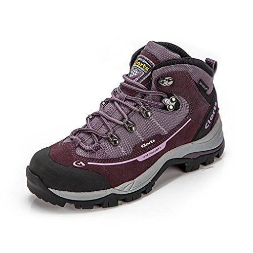 Clorts Women's Suede Leather Mid Waterproof Hiking Boot Outdoor Backpacking Shoe HKM303B