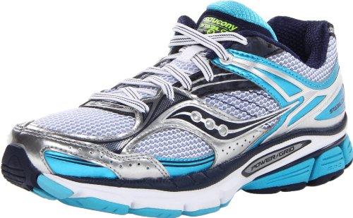 Saucony Women's Stabil CS3 Running Shoe,White/Blue/Navy,9 M US