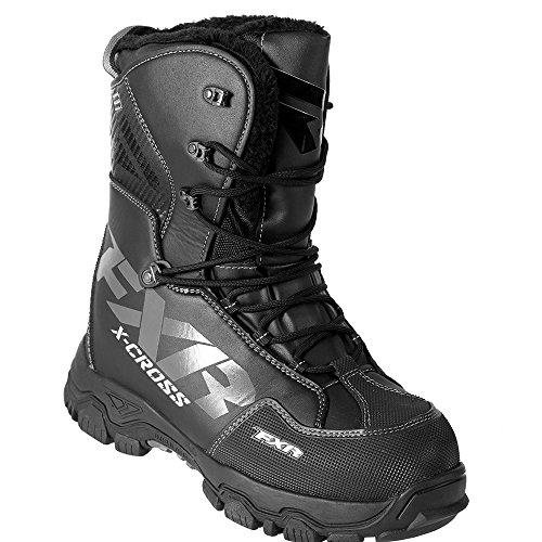 FXR X-CROSS Lace-up Snowmobile Boots Black OPS-Mens 10/EU43/Womens 12