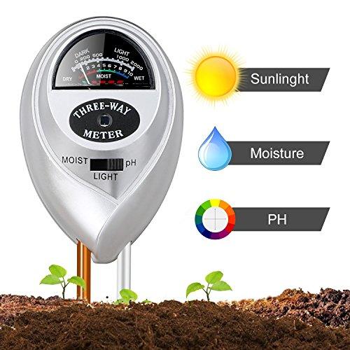 Jellas Moisture Meter / Soil Sensor Meter / Water Monitor / Plant Care Hygrometer for Indoor,...