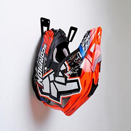 BESTUNT Motorcycle Helmet Holder - Shelf Hanger Storage Rack | Mount on Wall Accessories | Black