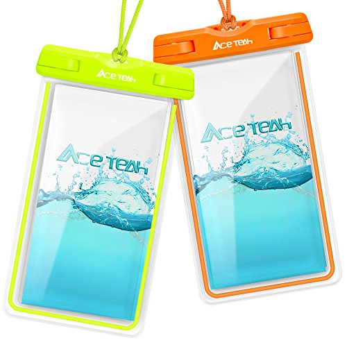 Clear Universal Waterproof Case, Ace Teah Dry Bag, Pouch, Transparent Snowproof Dirtproof Protective...