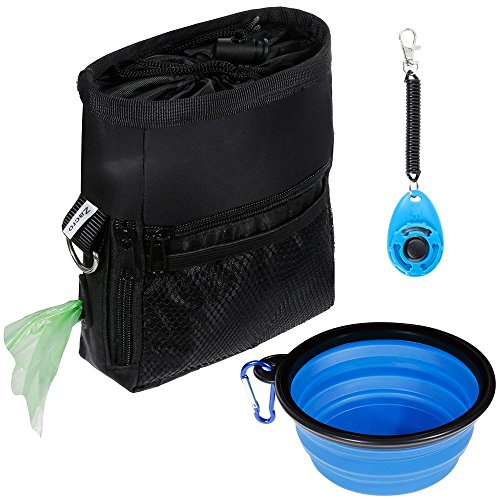 Zacro Dog Treat Training Pouch Bag Suit, including Adjustable Waist Belt and Shoulder Strap, One...