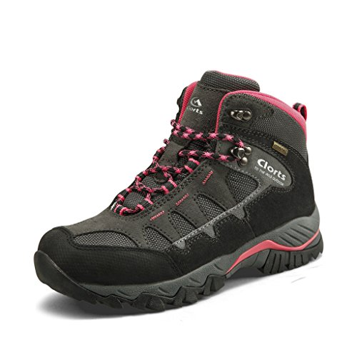 Clorts Women's Mid Hiking Waterproof Lightweight Boots | Perfect for Outdoor Backpacking Trekking...