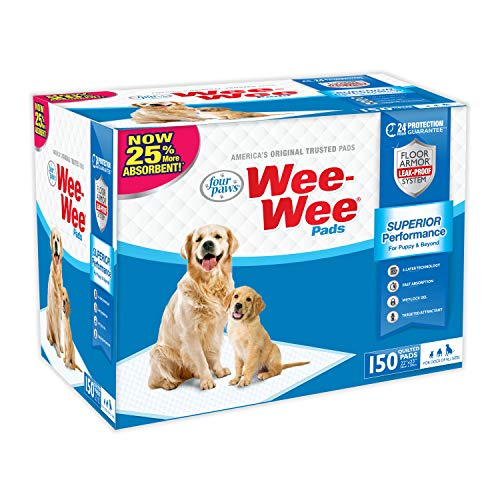 Wee-Wee Puppy Training Pee Pads 150-Count 22' x 23' Standard Size Pads for Dogs