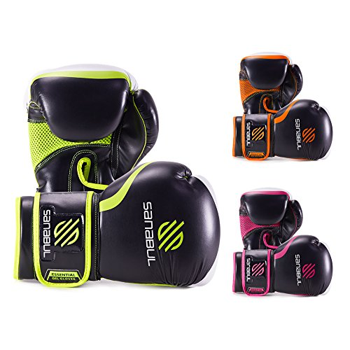 Essential Boxing Gloves Green 8-oz