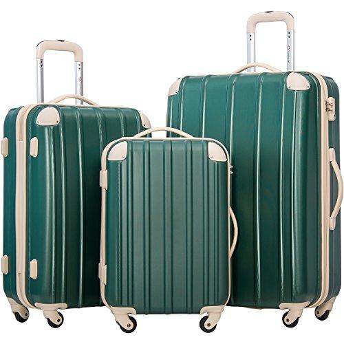 Merax MT Imagine 3 Piece Luggage Set Spinner Suitcase 20 24 28inch (Black1)