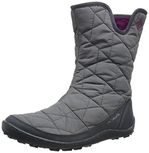 Columbia Women's Minx Slip II Omni-Heat Snow Boot, Shale, Dark Raspberry, 5 B US