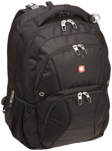 Swiss Gear SA1908 Black TSA Friendly ScanSmart Laptop Backpack - Fits Most 17 Inch Laptops and...