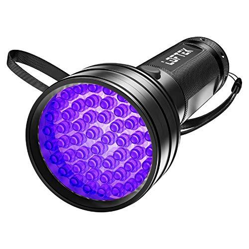 LOFTEK UV Flashlight Black Light, 51 LED 395 nM Flashlight Perfect Detector for Pet (Dog and Cat)...