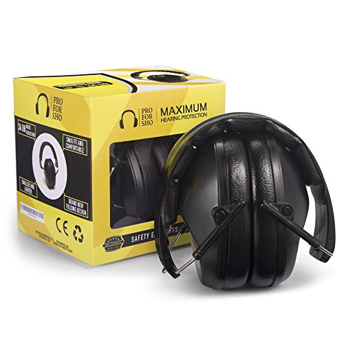 Pro For Sho 34dB NRR Safety Ear Protection - Special Designed Ear Muffs Lighter Weight & Maximum...