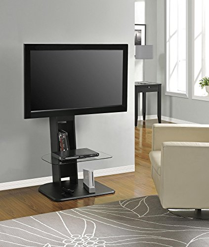 Ameriwood Home Galaxy TV Stand with Mount for TVs up to 50', Black
