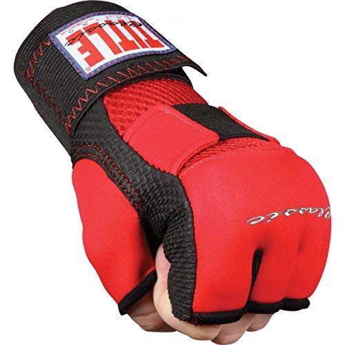 Title Classic Gel-X Glove Wraps, Red/Black, Medium
