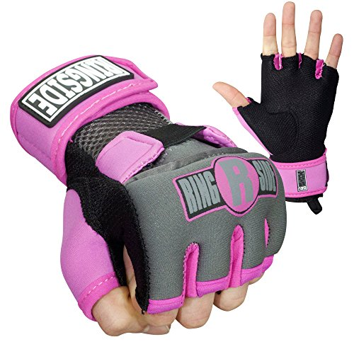 Ringside Gel Boxing MMA Hand Wraps, Small, Pink/Black