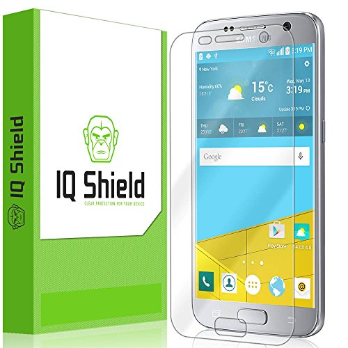 IQ Shield Screen Protector Compatible with Samsung Galaxy S7 (Full Coverage) Anti-Bubble Clear Film