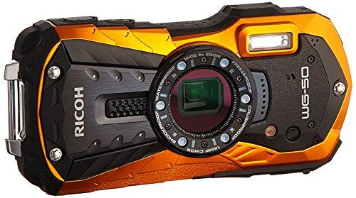 Ricoh WG-50 16MP Waterproof Still/Video Camera Digital with 2.7' LCD, (Black)
