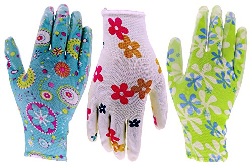 6 Pack HOMWE Gardening Gloves for Women - Assorted Colors - Medium