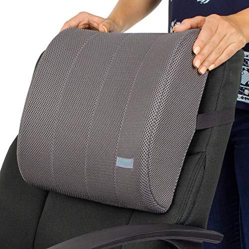 Xtra-Comfort Lumbar Support Cushion - Lower Back Pillow for Office Chair, Car, Men, Women, Gaming -...