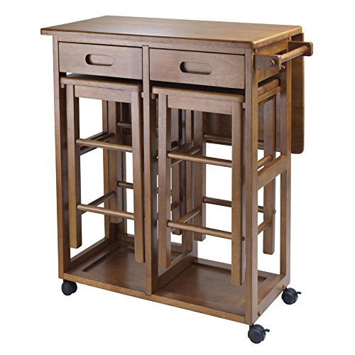 Winsome Wood Suzanne Kitchen, Square, Teak