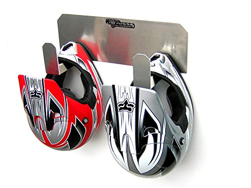Pit Posse Pp125 Dual Helmet Rack Holder Aluminum Enclosed Race Trailer Shop Garage Storage Organizer