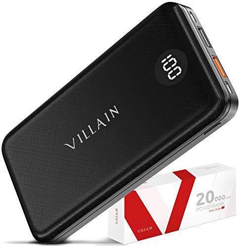 VILLAIN Portable Charger Power Bank Fast Charging Battery Pack 20000mAh Cell Phone External Battery...