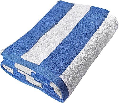 Utopia Towels Cabana Stripe Long Beach Towel - Large Pool Towel - (35 x 70 Inches), Blue