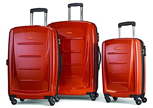 Samsonite Winfield 2 Hardside Expandable Luggage with Spinner Wheels, Orange, 3-Piece Set (20/24/28)