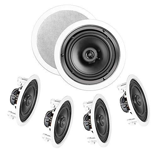 OSD Audio in-Ceiling/in-Wall Speaker Home Theater 5-Speaker Package w/Swivel Dome Tweeter Paintable...