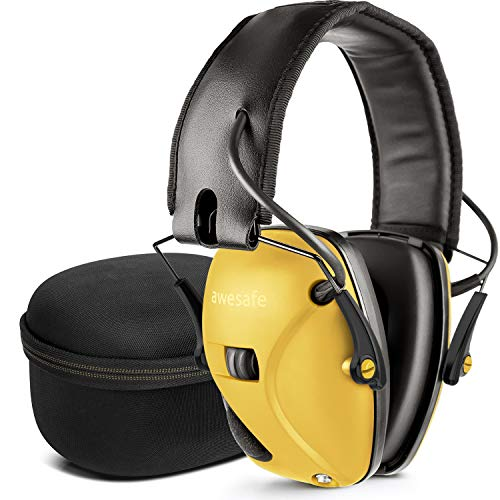 awesafe Electronic Shooting Earmuff [ Comes with Hard Travel Storage Carrying Case Bag], GF01+...