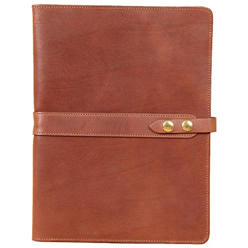 Brown Full-Grain Leather Portfolio No.18, Padfolio Folder | Made in USA | Col. Littleton