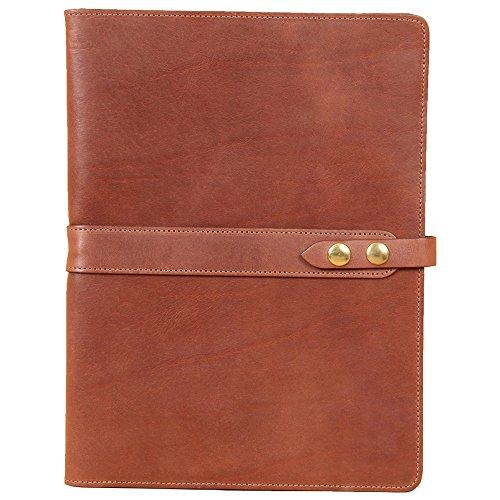 Brown Full-Grain Leather Portfolio No.18, Padfolio Folder | Made in USA | Col. Littleton