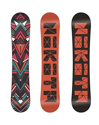 Nikita Women's Chickita Snowboard, Orange/Multi, 135