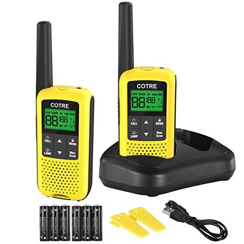 Walkie Talkies - COTRE Two Way Radios, 32 Miles Long Range USB Rechargeable Walkie Talkies w/ 2662...