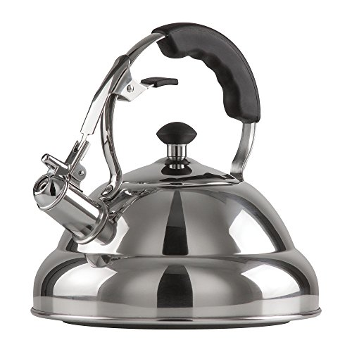 Chef's Secret 2.75-Quart T-304 Stainless-Steel Tea Kettle, a Powerfully Conductive Boiling Vessel...